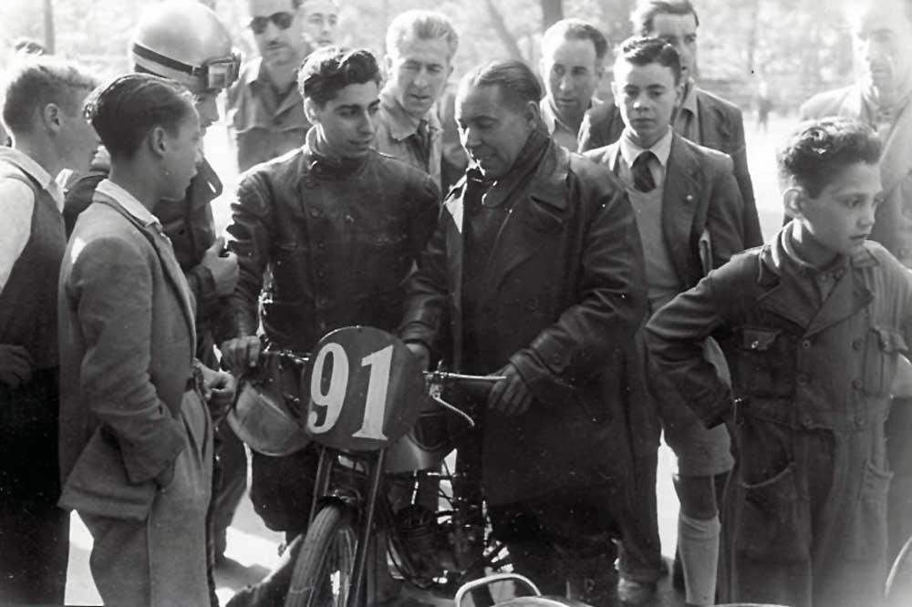 Ramón Martín, primer campeón de España de 50 cc.