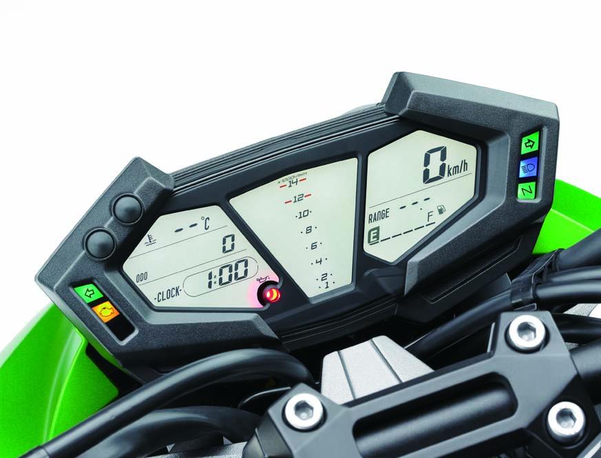 Cuadro de instrumentos de la Kawasaki Z 800