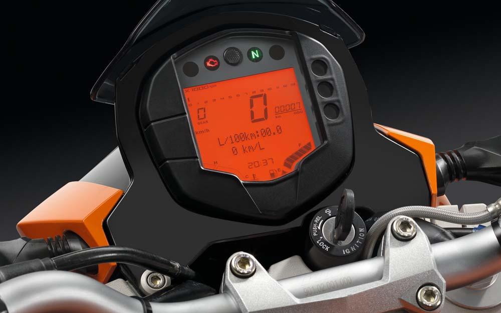 Cuadro de instrumentos de la KTM 125 Duke