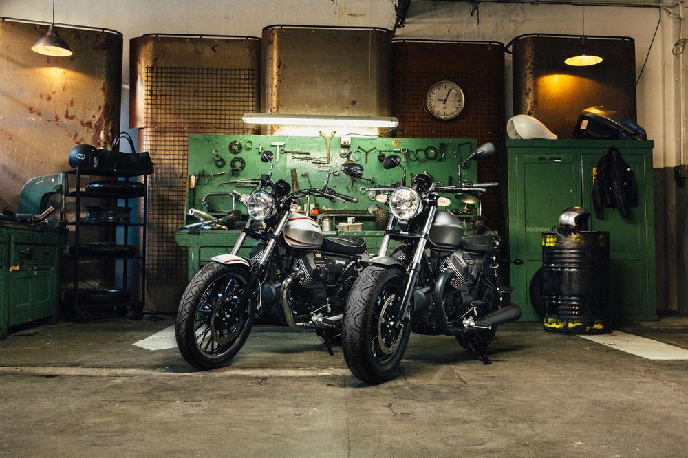 Moto Guzzi V9 BobberY V9 Roamer