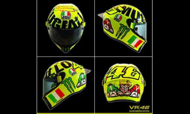 Los cascos de Valentino Rossi en el GP de Italia