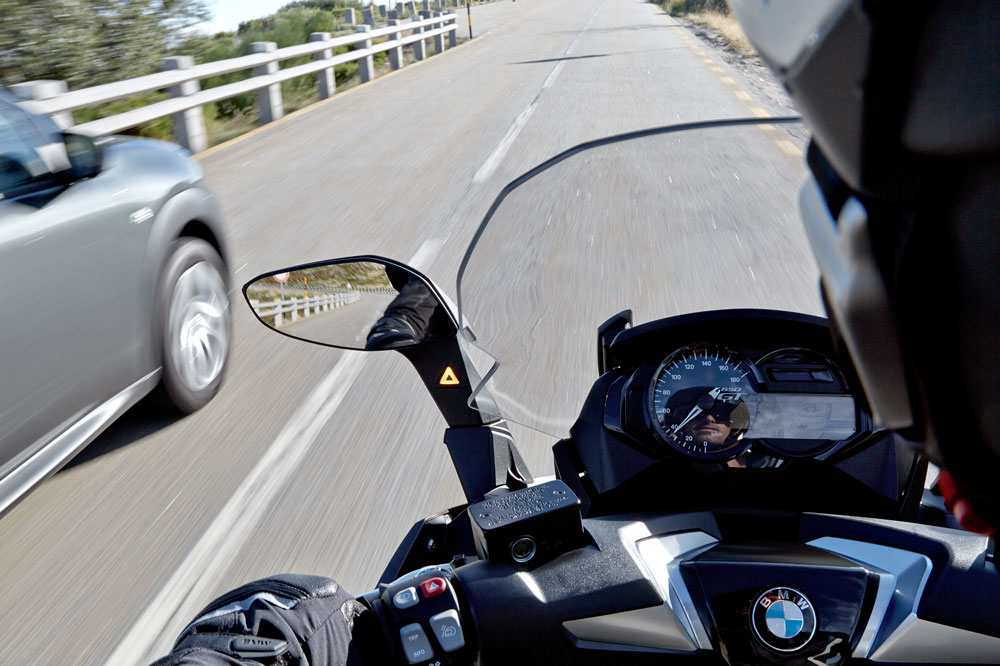 Side View Assist en los scooter BMW
