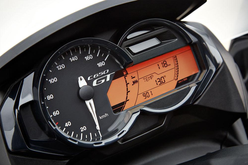 Cuadro de instrumentos del BMW C 650