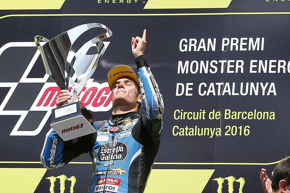 Jorge Navarro dedica su victoria en Moto3 a Luis Salom