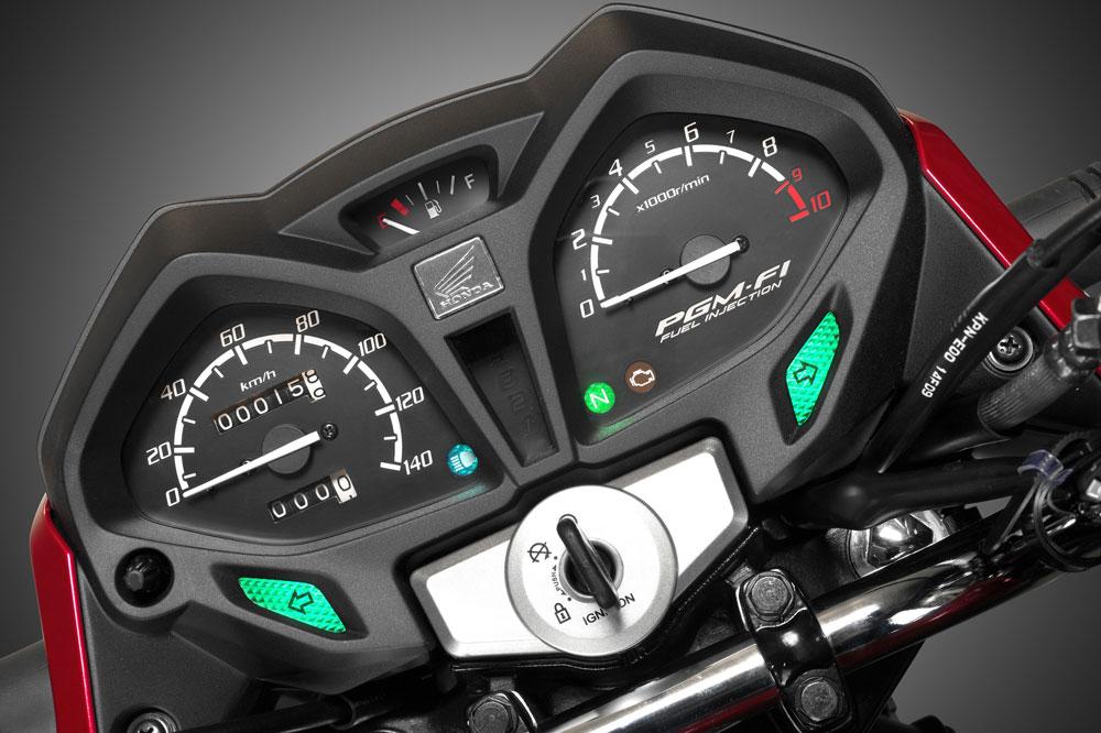 Cuadro de instrumentos de la Honda CB 125 F