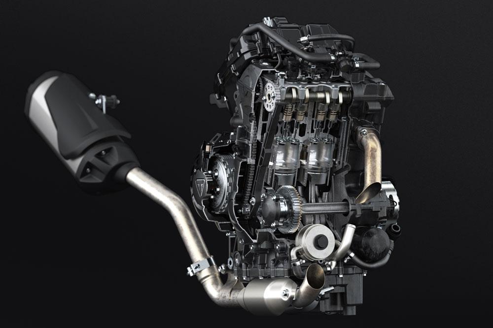 Motor de la Triumph Tiger 800