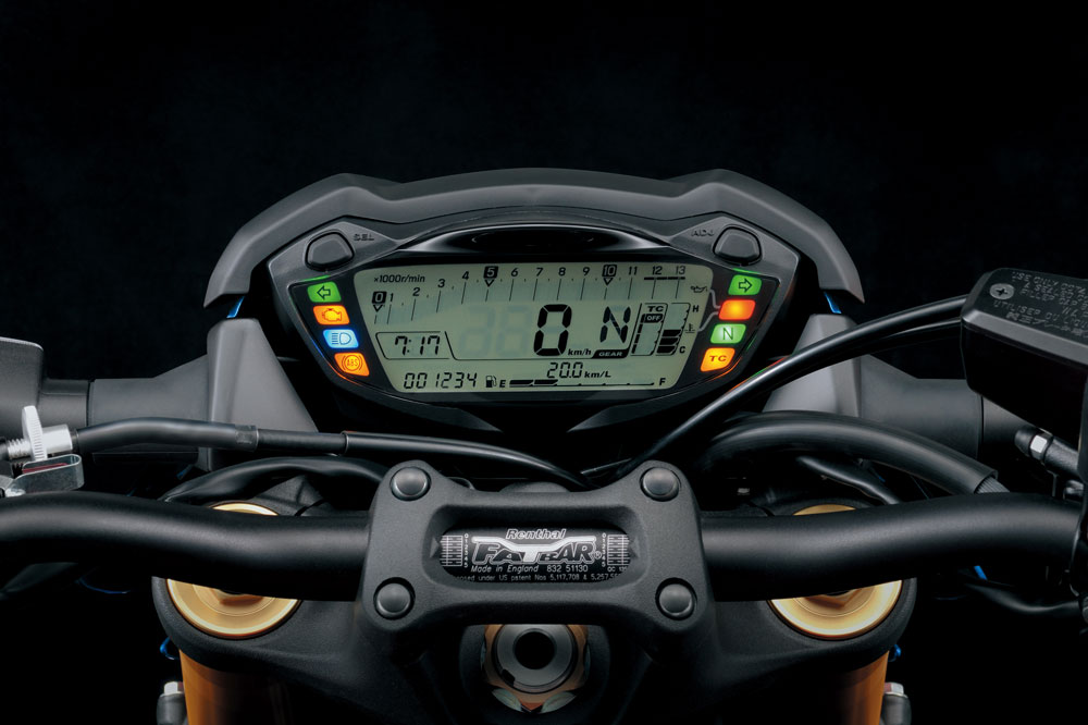 Cuadro de instrumentos de la Suzuki GSX S 1000