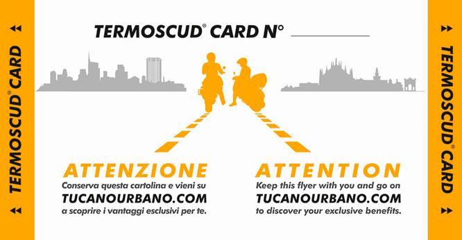 tarjeta seguro antirrobo cubrepiernas Tucano Urbano