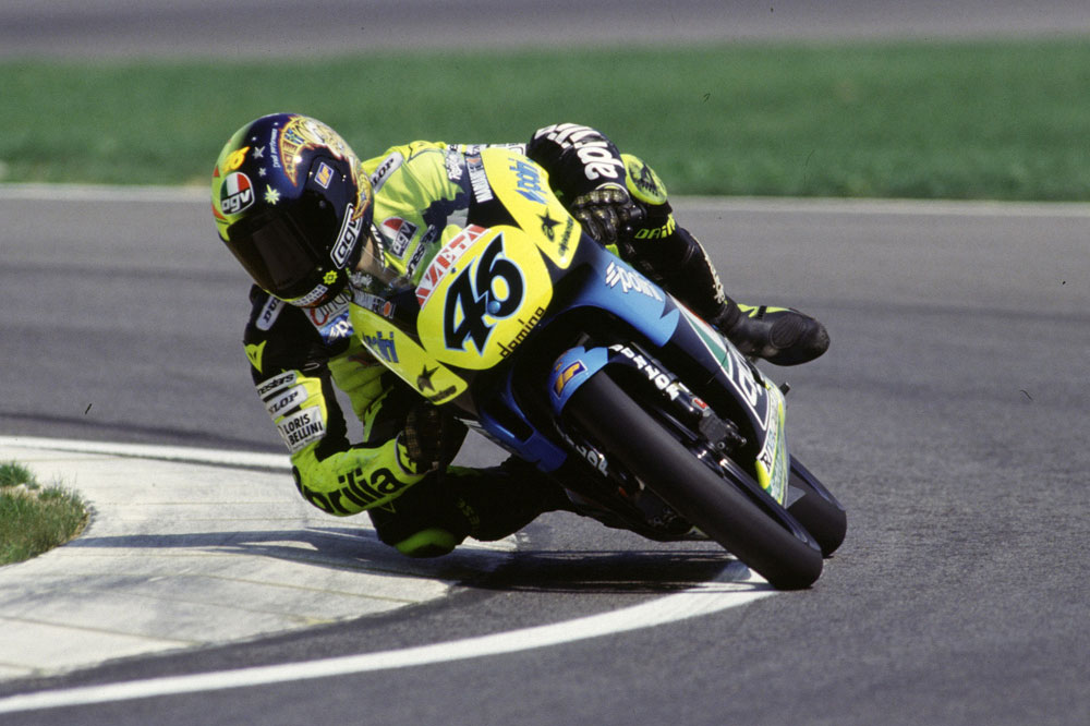 Primera victoria de Valentino Rossi en Brno en 1996