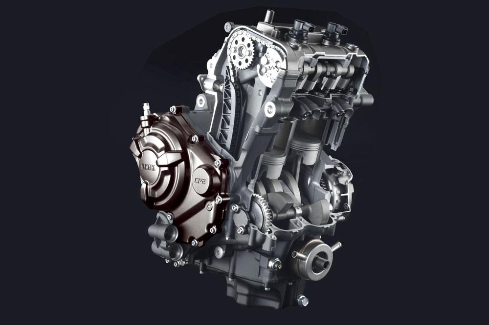 Motor de la Yamaha MT 07