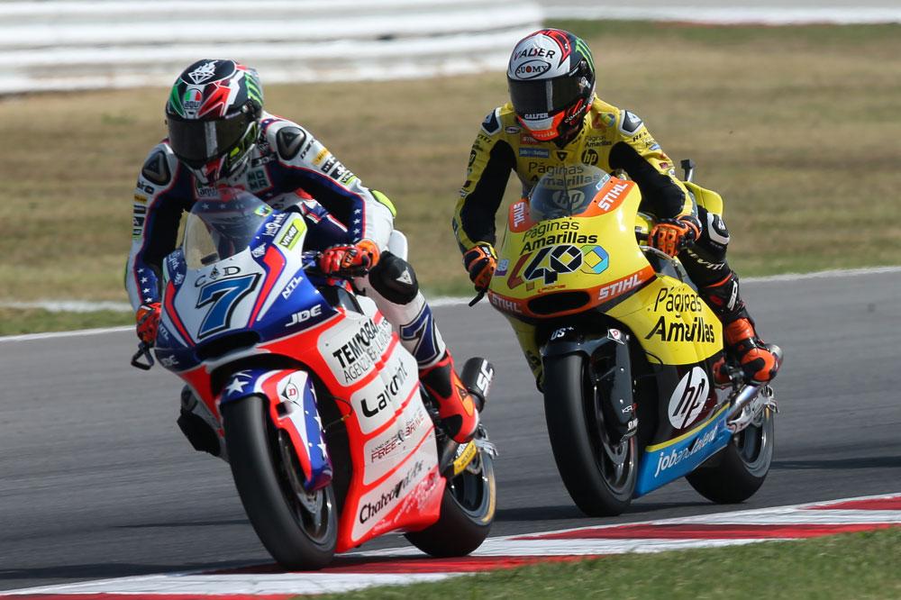 Badasarri y Alex Rins en el Gran Premio de San Marino