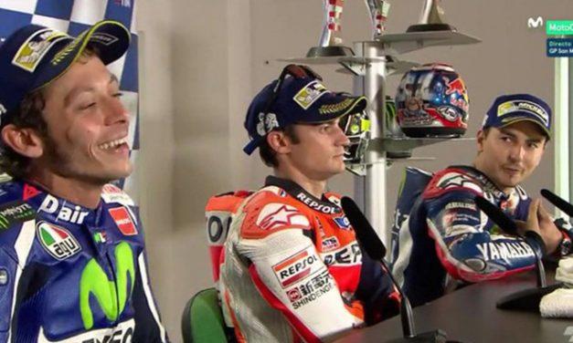 Duro enfrentamiento entre Lorenzo y Rossi en la rueda de prensa de San Marino