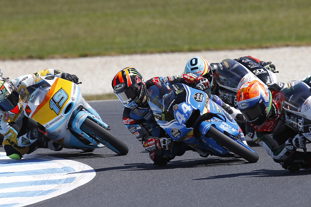 Primer podio mundialista para Aaron Canet en el GP de Australia de Moto3