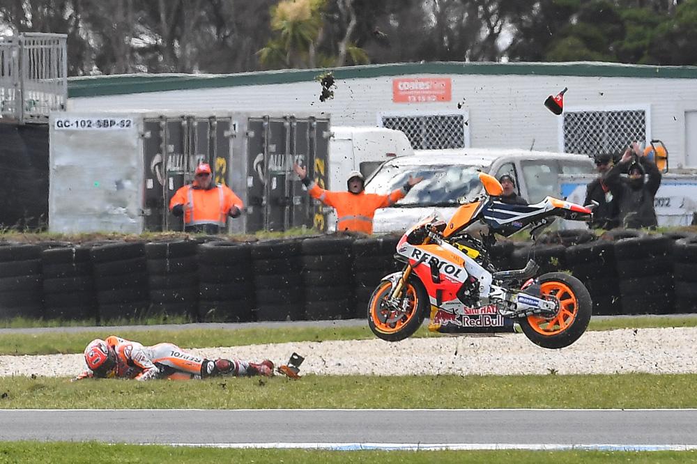 Caída de Marc Márquez GP de Australia