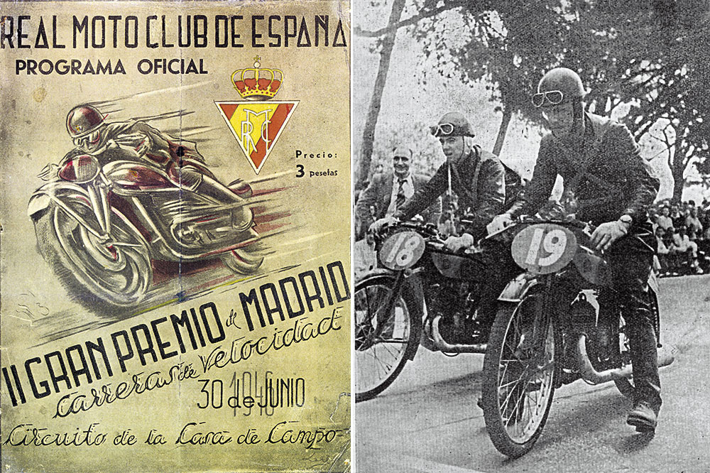 Segundo Gran Premio Motociclismo Madrid 1946