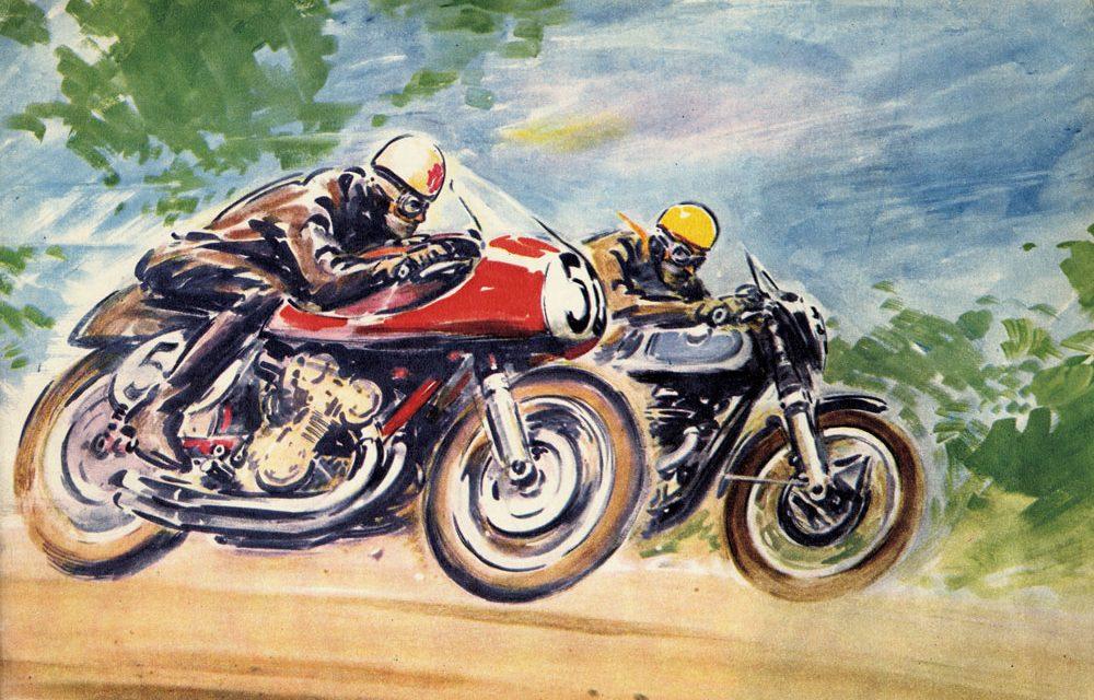 La publicidad en las carreras de motos