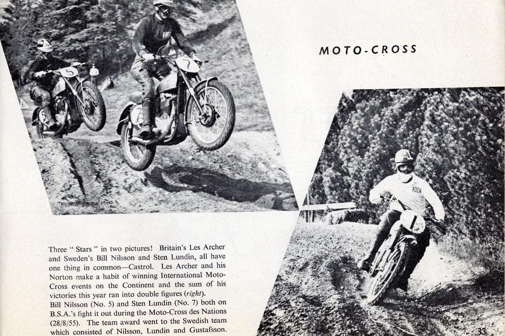 Publicidad Castrol Carreras de Motocross
