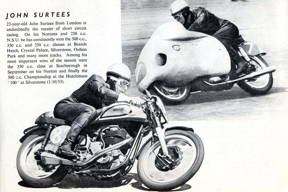 Publicidad Castrol Carreras de Motos John Surtees