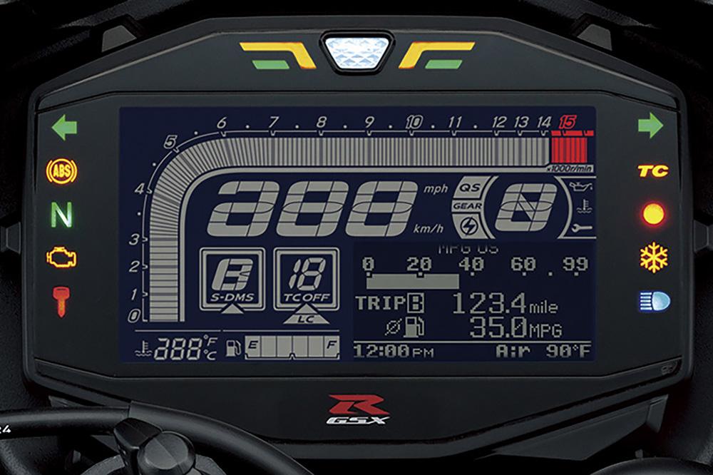 Cuadro de instrumentos de la Suzuki GSX-R 1000 R