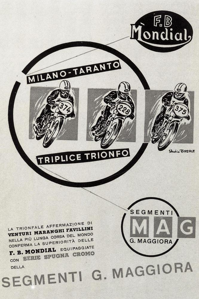 Cartel carrera Milano-Taranto