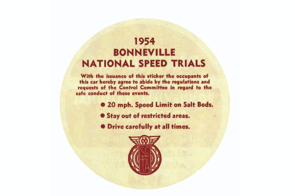 Carreras en Bonneville en 1954