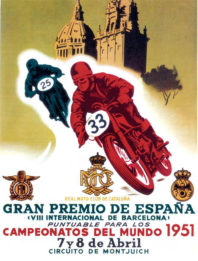 Cartel Gran Premio España 1951