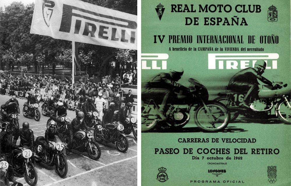 Las carreras de motos en el paque del Retiro