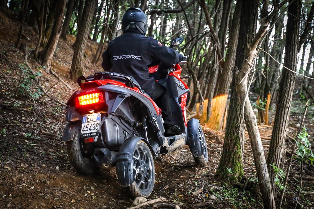 Quadro 4, scooter de cuatro ruedas
