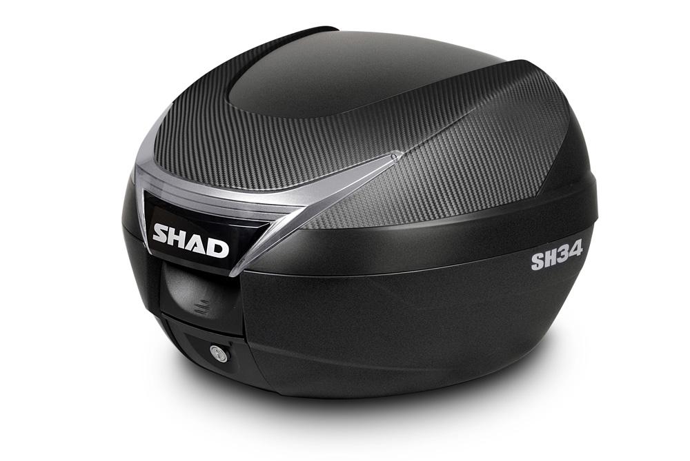Baúl SH34 de Carbono para moto de SHAD