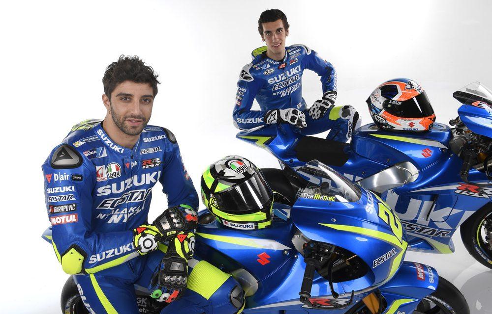 Presentación del equipo Suzuki MotoGP 2017 con Andrea Iannone y Alex Rins