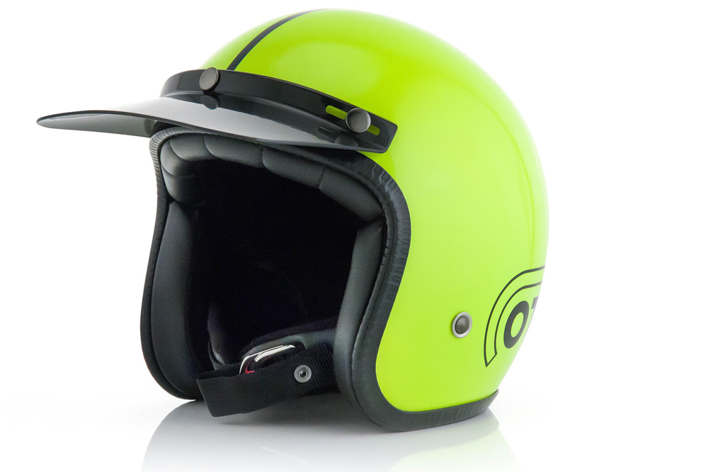 Casco jet Ottano Helmet yellow