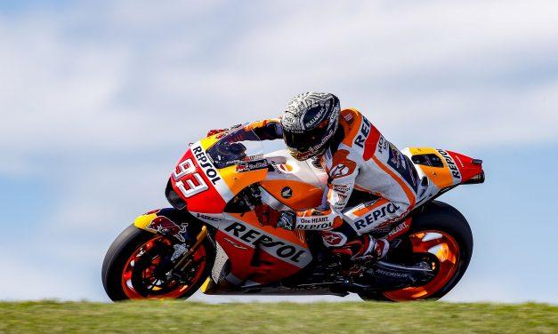 Márquez lidera primer día de pruebas MotoGP en Australia