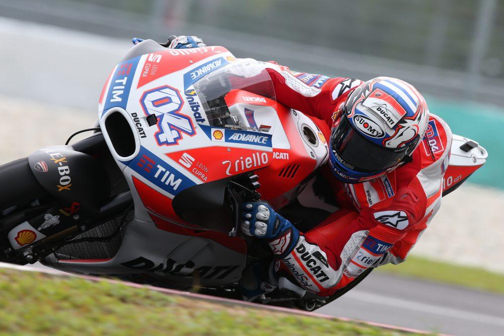 Andrea Dovizioso, Ducati, entrenamientos Sepang