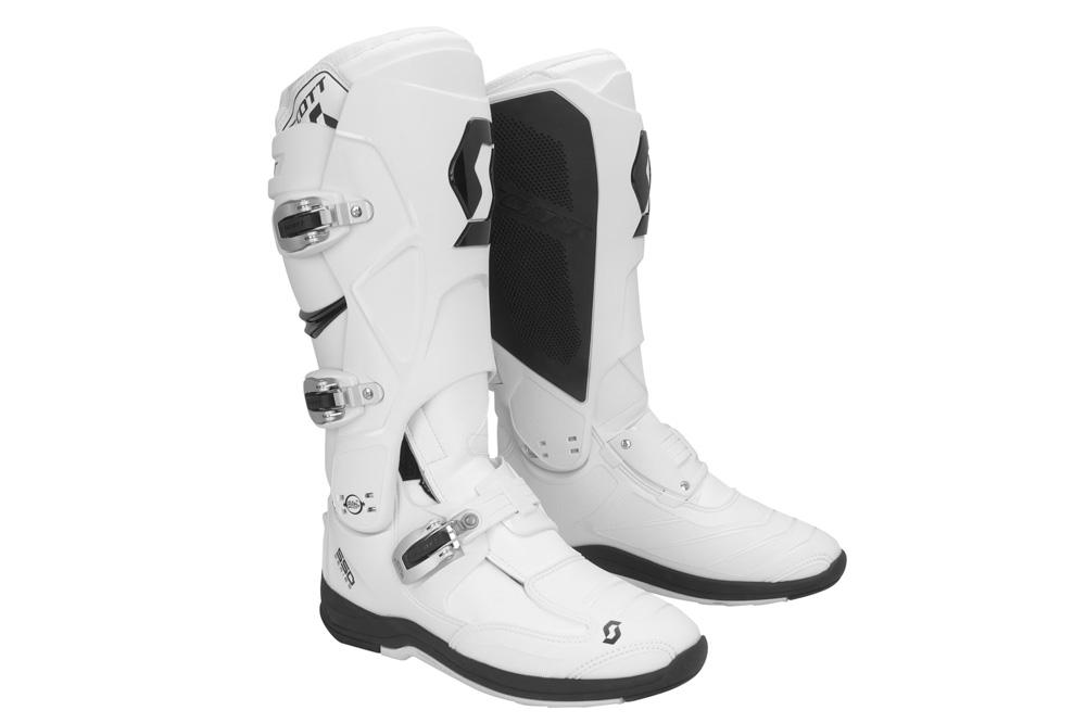 Botas moto 550 de Scott blancas