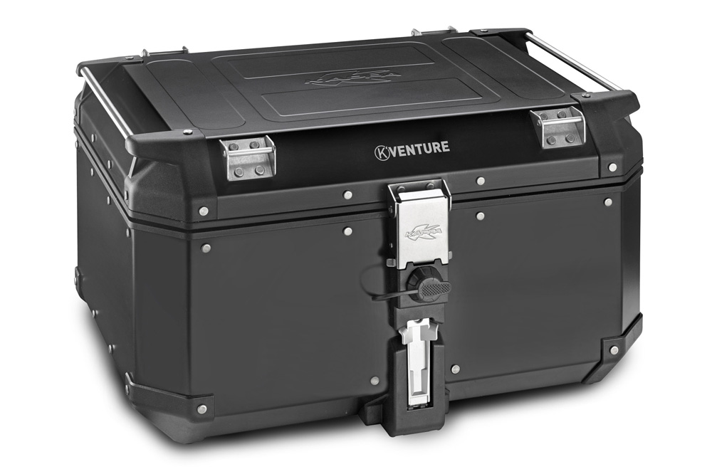 Maleta trasera K-Venture de aluminio negro 58 litros