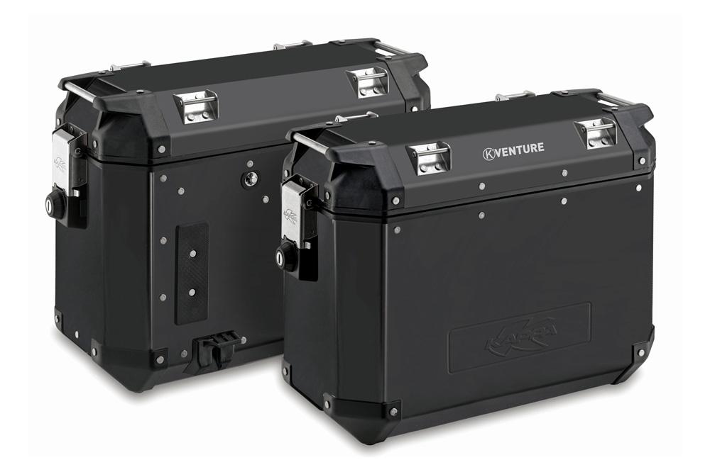 Maletas laterales K-Venture de aluminio negro 37 litros