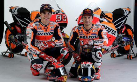 Sesión de fotos con Márquez y Pedrosa