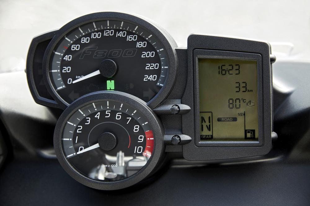 Instrumentación de la BMW F 800 GT