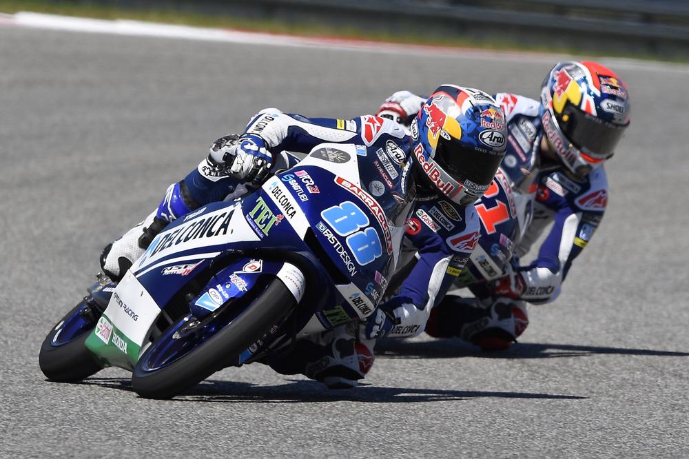 Jorge Martín, segundo en Moto3 en el GP Americas
