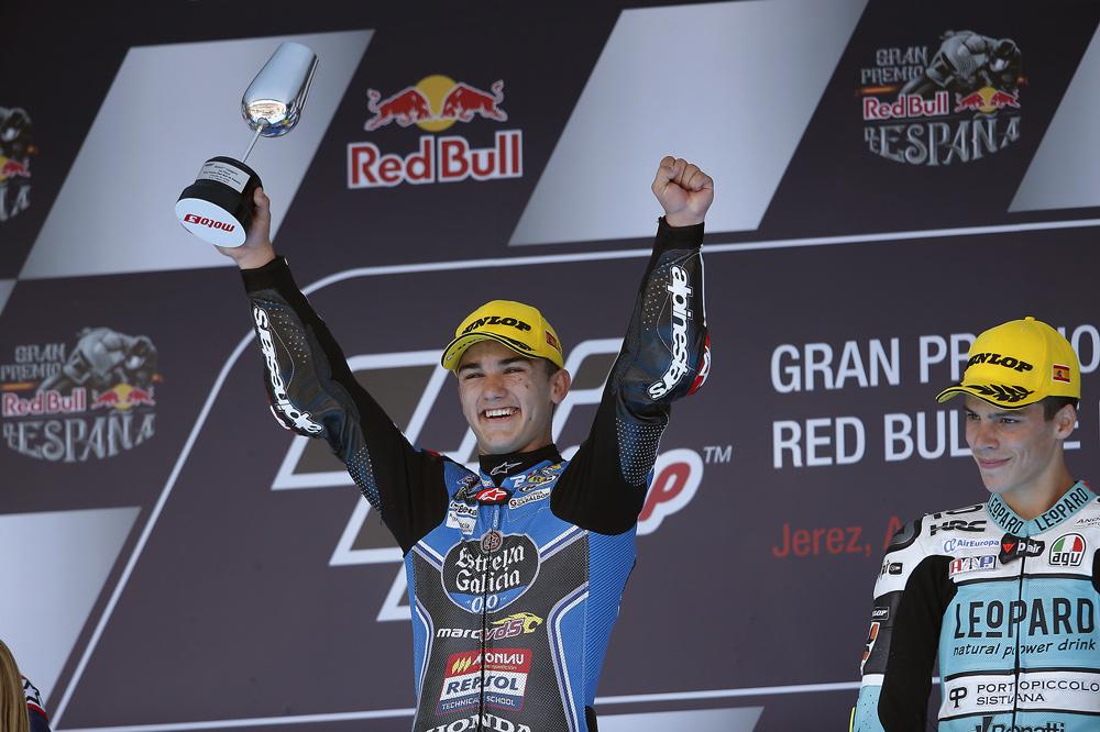 Aaron Canet, victoria en Moto3 en el GP de Jerez