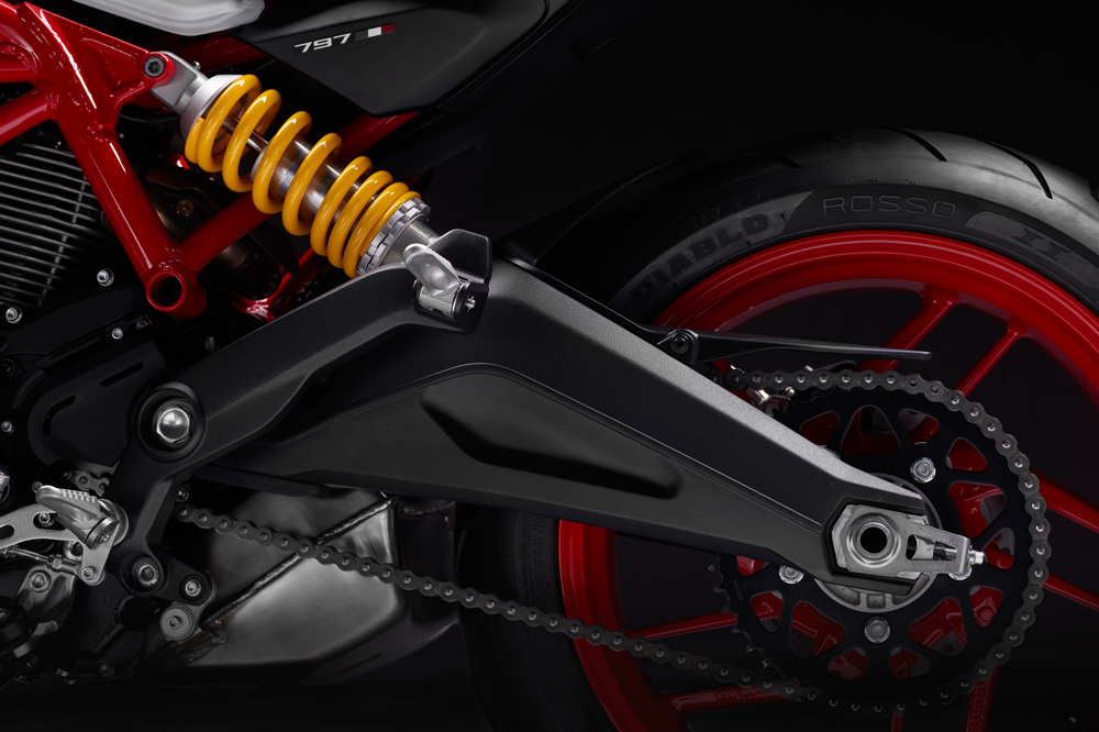 Suspension trasera de la Ducati Monster 797