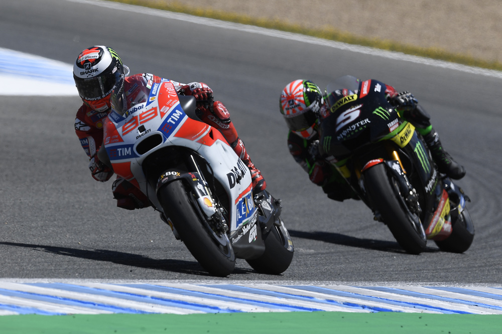 Jorge Lorenzo se subió al podio por primera vez con Ducati