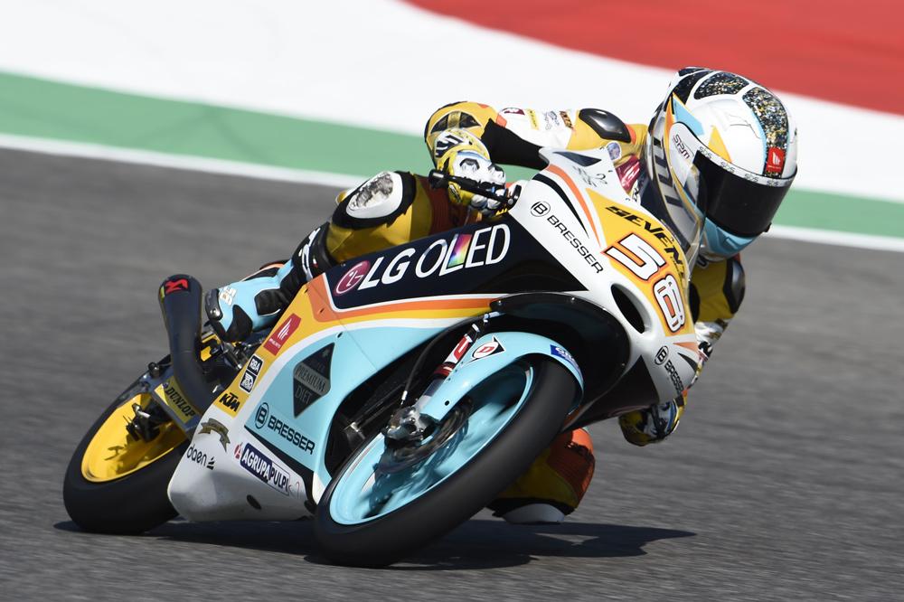 Juanfran Guevara, primer podio en Moto3