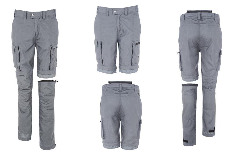 Pantalon desmontable moto Zipster en gris de Tucano Urbano