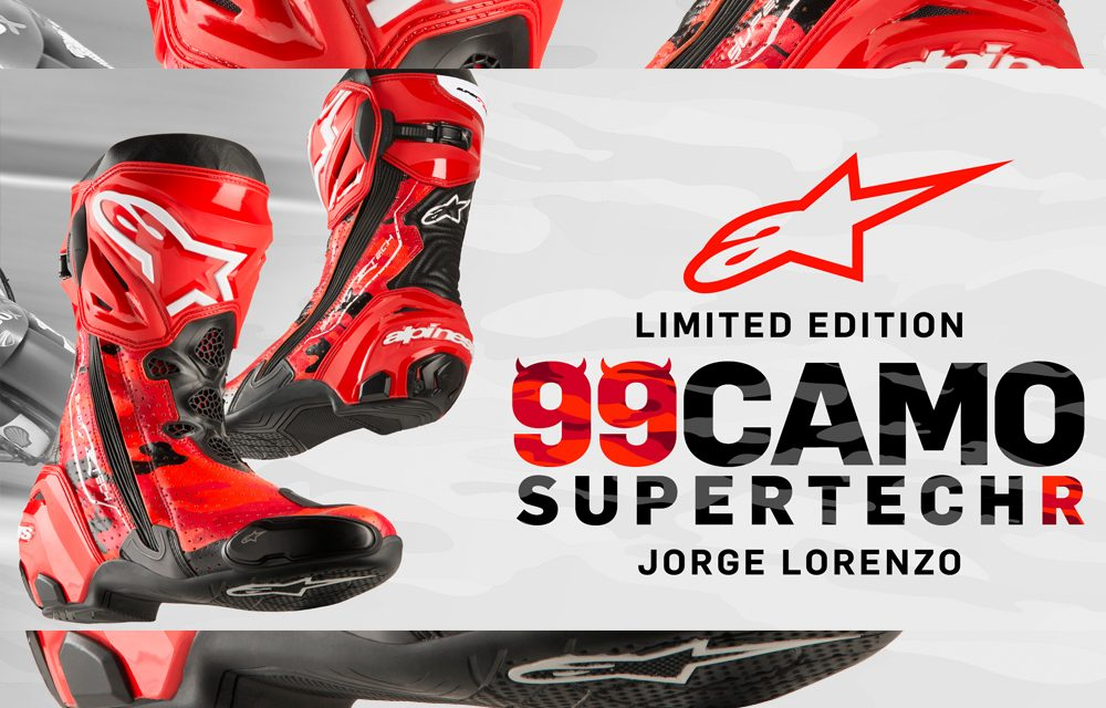 Alpinestars 99 Camo Supertech R: Botas réplica Jorge Lorenzo