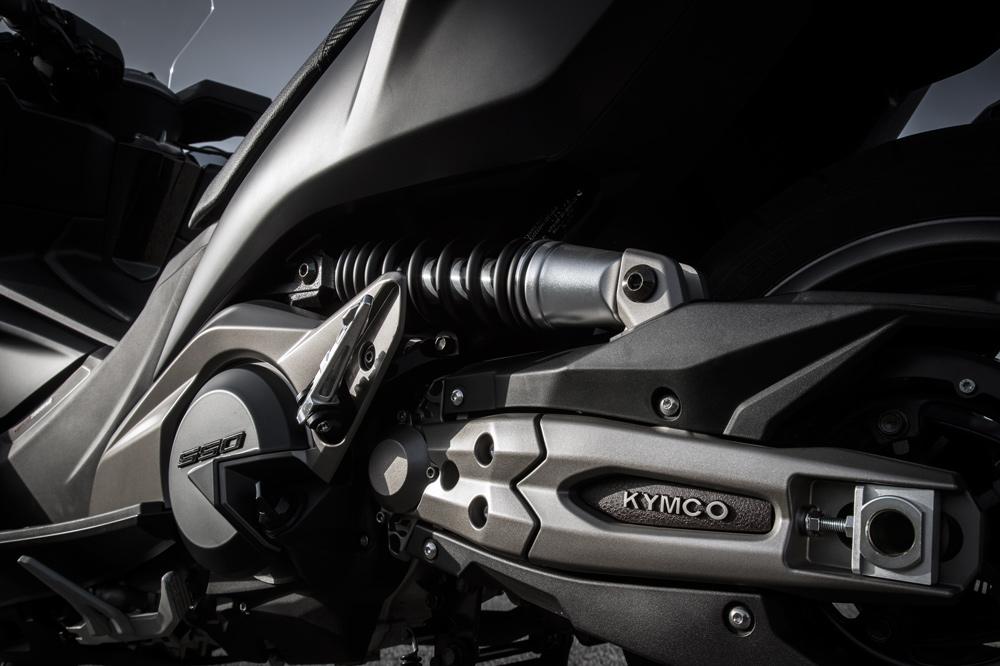 Detalle de la suspensión del KYMCO AK 550