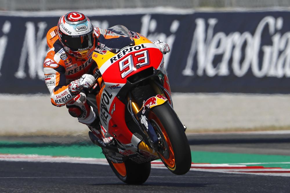 Marc Márquez fue segundo en MotoGP en Catalunya