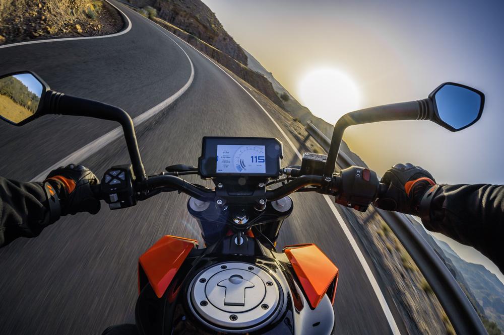 El angulo muerto en la visión de una moto