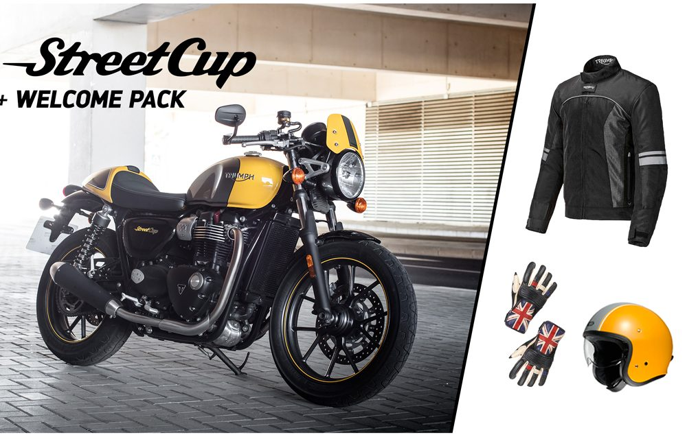 La Triumph Street Cup viene con regalo de chaqueta, casco y guantes