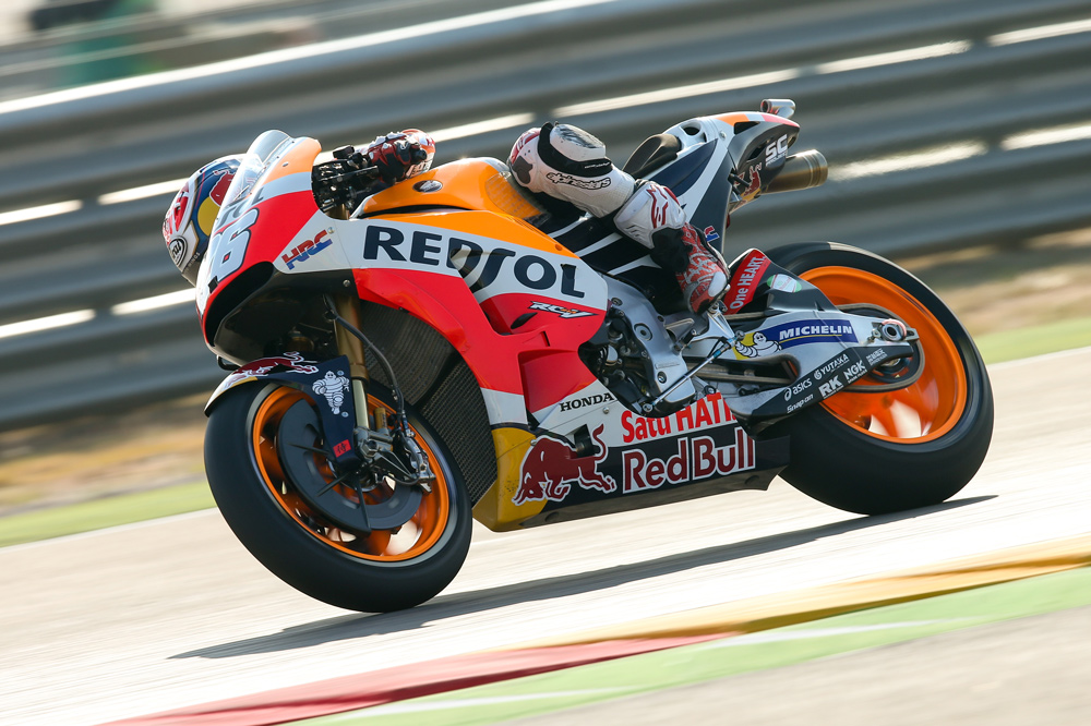 Dani Pedrosa, segundo en el GP de Aragon en MotoGP